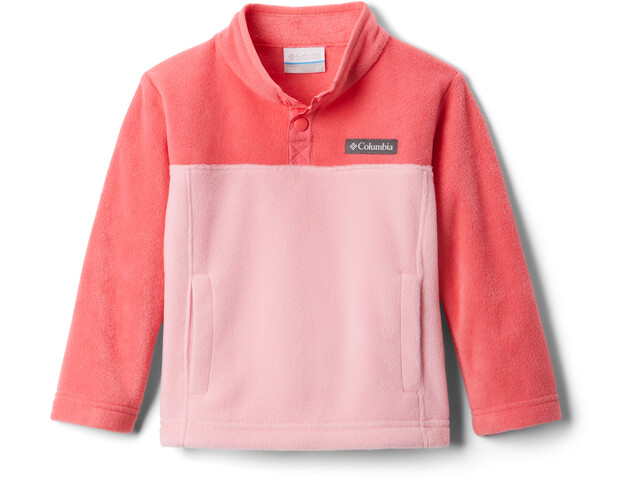 Columbia Steens Mountain Pull Polaire Snap 1/4 Enfant, pink orchid/bright geranium